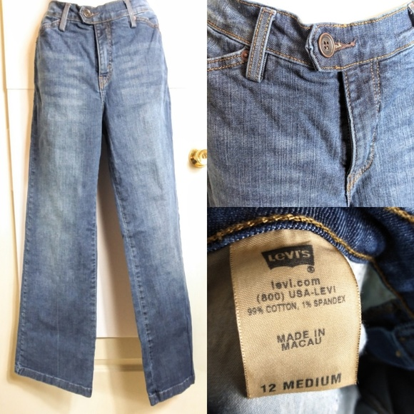 Levi's Denim - Levi's perfectly slimming sz 12 flare jeans
